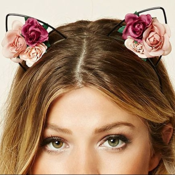 Forever 21 Accessories - Cute Floral Cutout Cat Ear Festival Headband EUC 3874d91301a